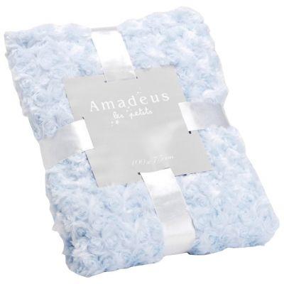Plaid petites rose bleu ciel (100 x 75 cm)  par Amadeus