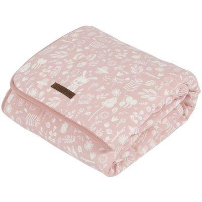 Couverture bébé pure & soft Adventure pink (70 x 100 cm)  par Little Dutch
