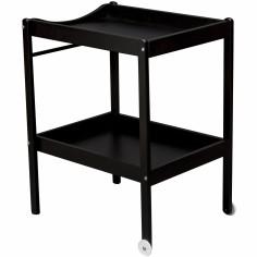 Table à langer Alice en bois massif laqué noir