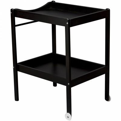Table A Langer Alice En Bois Massif Laque Noir