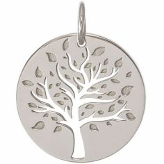 Médaille de naissance Lucas personnalisable 18 mm (or blanc 750°)