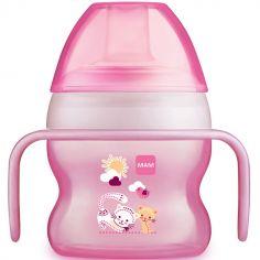 Tasse à bec souple chat rose (150 ml)