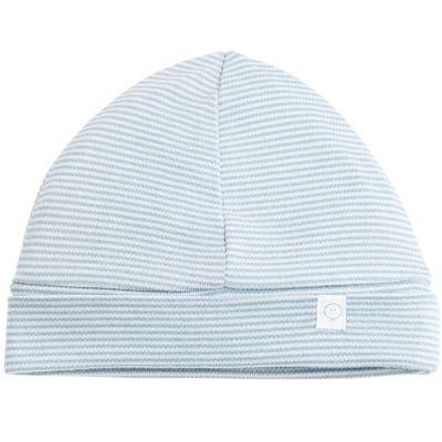 Bonnet en coton et bambou bleu clair (0-3 mois)  par MORI