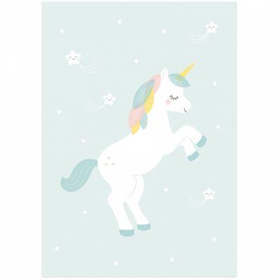 Affiche A3 Licorne  par Zü