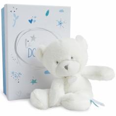 Peluche pantin ours bleu Le Doudou (26 cm)