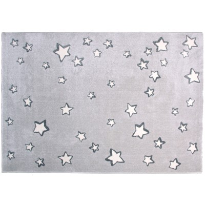 tapis enfant sweet dream gris toiles blanches 120 x 170 cm par nattiot. Black Bedroom Furniture Sets. Home Design Ideas