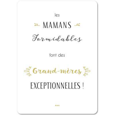 Carte citation Grand-Mère (15 x 21 cm)  par Mes Mots Déco