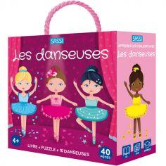 Livre et puzzle Les danseuses (40 pièces)