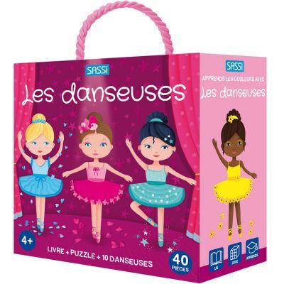 Livre et puzzle Les danseuses (40 pièces) Sassi Junior