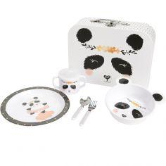 Coffret valisette repas Louna le panda (5 pièces)