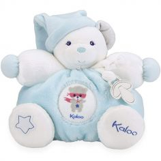 Doudou attache sucette Imagine Patapouf  Ourson bleu (25 cm)