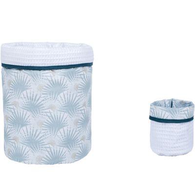 Lot de 2 paniers de toilette Palmier céladon (20 x 20 cm)  par BB & Co