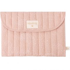 Pochette de change Bagatelle coton bio White bubble Misty pink