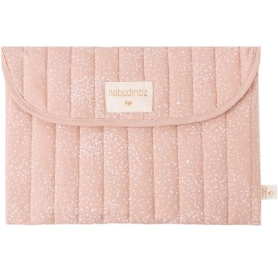 Pochette de change Bagatelle coton bio White bubble Misty pink  par Nobodinoz