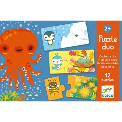 Puzzle duo cache-cache (24 pièces)