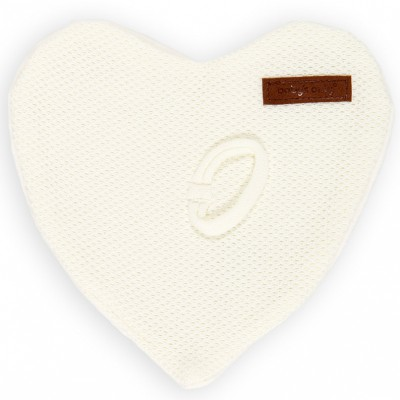 Attache sucette Classic coeur blanc Ivoire Baby's Only