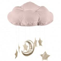 Mobile nuage vieux rose