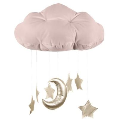 Mobile nuage vieux rose  par Cotton&Sweets