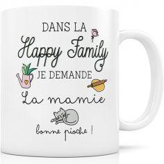 Mug en céramique Dans la Happy Family je demande la mamie