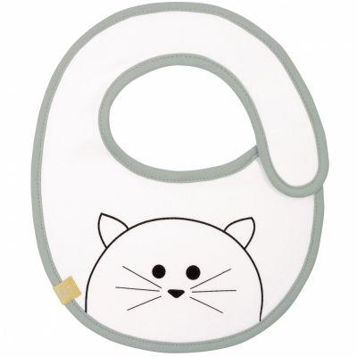 Bavoir éponge à velcro Little Chums chat (petit modèle)