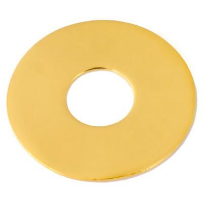 Bracelet empreinte mini pi sur double chaîne 18 cm (or jaune 750°)   par Les Empreintes