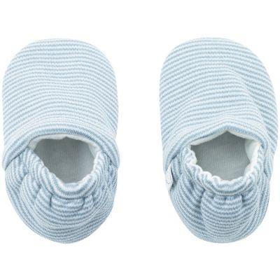Chaussons bleu clair (0-3 mois)