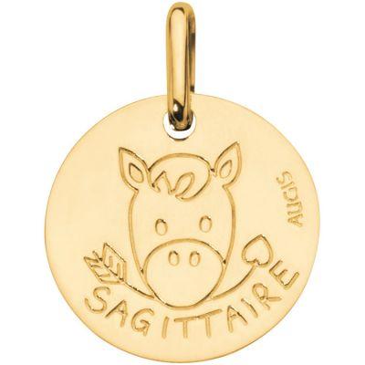 Médaille Zodiaque sagittaire 14 mm (or jaune 750°)