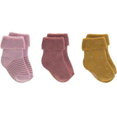 Lot de 3 paires de chaussettes bébé en coton bio rose (pointure 15-18)  par Lässig