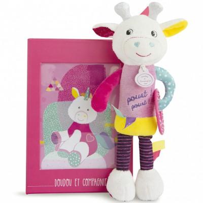 Hochet pouët pouët girafe (25 cm) Doudou et Compagnie