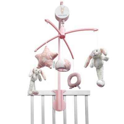 Mobile musical lapin Adventure pink  par Little Dutch
