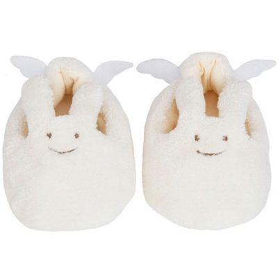 Chaussons lapin ivoire et pochette de rangement en coton (0-2 ans)  par Trousselier