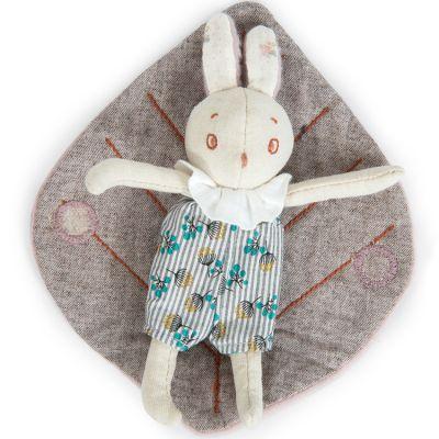 Mini peluche Mousse le petit lapin Après la pluie (16 cm)  par Moulin Roty