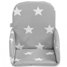 coussin chaise haute little star toile gris anthracite jollein. Black Bedroom Furniture Sets. Home Design Ideas