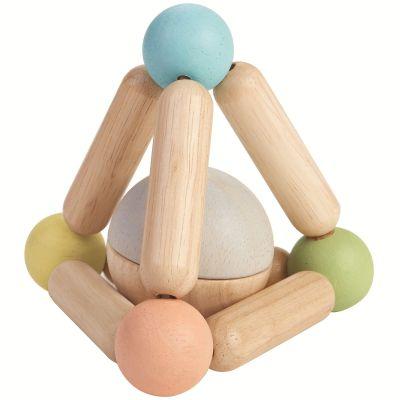 Hochet en bois triangle pastel  par Plan Toys