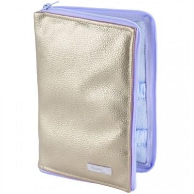 Protège carnet de santé Beryl bleu  par Nougatine