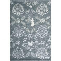 Tapis lapin by Shinzi Katoh bleu (135 x 190 cm)