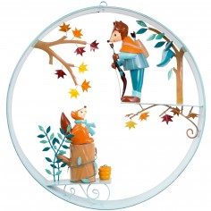 Mobile décoratif en cerceau Robin des bois