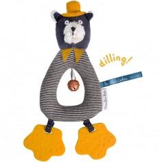 Hochet anneau chat Alphonse Les Moustaches