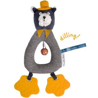 Hochet anneau chat Alphonse Les Moustaches  par Moulin Roty