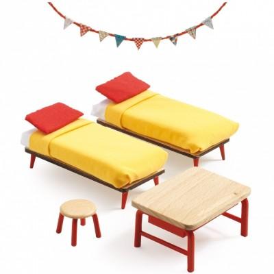 Mobilier pour poupée La chambre des enfants  par Djeco