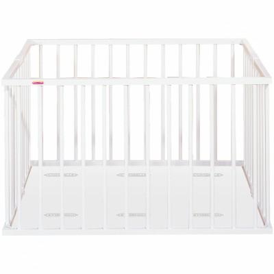 Parc bébé pliable en bois massif laqué blanc (92 x 98 cm)  par Combelle