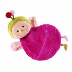 Doudou marionnette Julie la coccinelle avec boîte (30 cm)