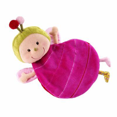 Doudou marionnette Julie la coccinelle avec boîte (30 cm)  par Lilliputiens