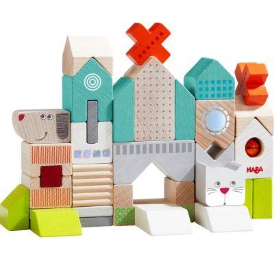 Blocs de construction Chien et chat (31 pièces)  par Haba