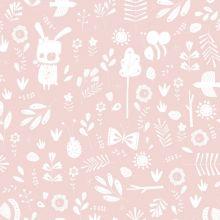 Papier peint à motifs Adventure pink (10 m)  par Little Dutch