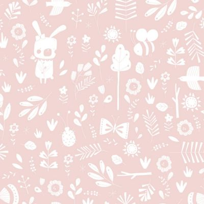 Papier peint à motifs Adventure pink (10 m)  par Little Dutch
