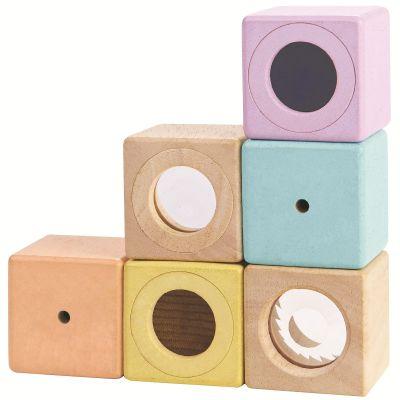 Blocs sensoriels pastel  par Plan Toys