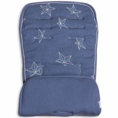 Assise de protection réversible poussette et siège auto bleu étoiles