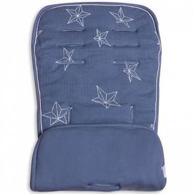 Assise de protection réversible poussette et siège auto bleu étoiles  par Minene