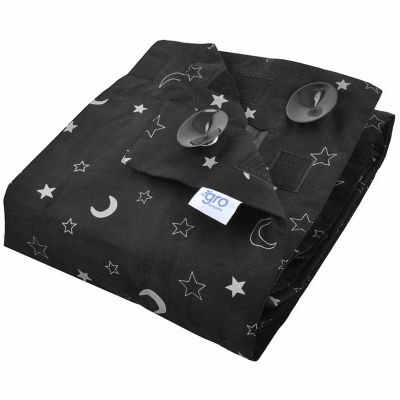 rideau occultant gro anywhere blind stars and moon ventouse par the gro company. Black Bedroom Furniture Sets. Home Design Ideas